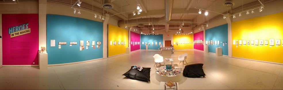 Panoramic View of Heroes in the Making Exhibition