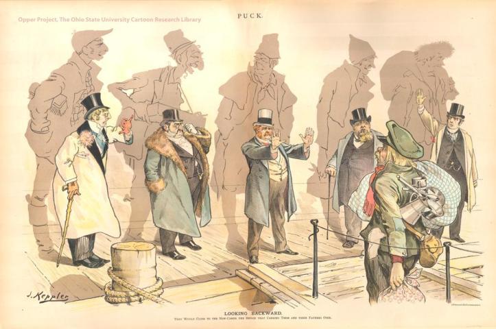 Joseph Keppler - Looking Backward - 1893
