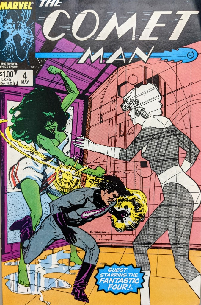 The Comet Man, Issue 4, cover art by Bill Sienkiewicz (1987)